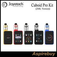Wholesale Wholesale Single Function Pedometers - Joyetech Cuboid Pro Kit 200W Cuboid Pro Mod with 2ML ProCore Aries Atomizer 2.4 inch Color Touchscreen Pedometer Function 100% Original