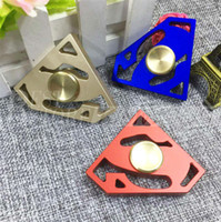Wholesale Triangle Gem - Newest Fidget Spinner EDC Hand Spinners Metal Alloy Superman Gem Decompression Anxiety Fingertips Gyro Tri Triangle Finger Toys Free DHL