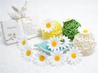 цветок небольшой подарочной коробке оптовых-Wholesale- 10pcs Small Silk Sunflower Handmade Artificial Flower Head Wedding Decoration DIY Wreath Gift Box Scrapbooking Craft Fake Flower