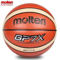 Basketballs original gift baskets - 2017 Official Original Molten GP7X Basketball Ball NEW Arrival Basket Ball PU Leather Size Basketball With Gifts Of Pin Net