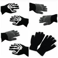 Wholesale Skeleton Touch Screen Gloves - Skeleton Touch Screen Gloves Smart Phone Tablet Touch Screen Gloves Winter Mittens Warm Full Finger Skull Gloves OOA2960