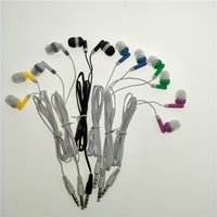 Wholesale Style Ear Headphone - Stereo Earphone earbuds headphone for Iphone in ear style 6colors DHL FEDEX free shipping 500pcs Lot