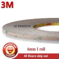 Wholesale Bonding Tapes - Wholesale- 2016 1x 6mm*55M*0.17mm 6.7 mil (thickness) 3M 9495LE 300LSE Clear Double Coated Tape High Bond Strength for Phone LCD Frame Cas