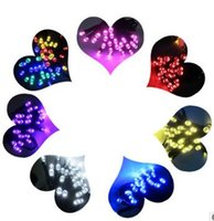 ingrosso viola luci albero luci-New Hot Solar Fairy String Lights 21ft 50 LED Purple Blossom Giardini decorativi, Prato, Patio, Alberi di Natale, Matrimoni, Feste