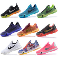 Wholesale Elite Cycling Trainer - 2016 New Kobe 10 X Elite Low Top Bryant Basketball Shoes For Men KB 10 Mens Athletics Trainers Size 40-46 Free Shipping