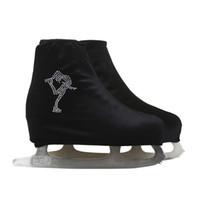 cobre sapatos brancos venda por atacado-Atacado-24 Cores Criança Adulto Velvet Ice Patinação Artística Shoes Cover Roller Skate Tecido Acessórios Preto Branco Skator Rhinestone