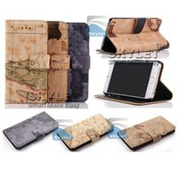 Wholesale Note Card Stands - For iPhone 6 6S Stand Design Wallet Style Photo Frame PU Leather Case Phone Bag With Card Holder For Note 5 Opp Bag