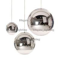 Wholesale Mirror Balls Light Fixture - Modern Tom Dixon Mirror Glass Ball Pendant Lights Restaurant Chrome Globle Pendant Lamps Kitchen Hanging Light Fixture Luminaira