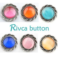 Wholesale Metal Slide Charms - D01199 Rivca Snaps Button Jewelry Hot wholesale High quality Mix styles 18mm Metal Ginger Snap Button Charm Rhinestone Styles NOOSA chunk