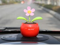 Wholesale Car decoration Solar energy Sun flower head Baymax Snoopy Rabbit
