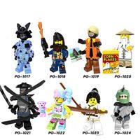 Wholesale Ninja Building Toys - Building Blocks Minifigures Action Bricks Ninja Super Heroes Gamma Shark Kids Gift Toys 8pcs set PG8073