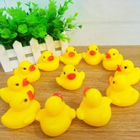 Wholesale High Quality Baby Bath Water Duck Toy Sounds Mini Yellow Rubber Ducks Kids Bath Small Duck Toy Children Swiming Beach Gifts