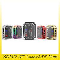 Wholesale Gt Box - Authentic XOMO GT Laser 255 TC Box Mod 3500mAh Battery Max 150W Mod With Original Laser Flashing Light 100% Genuine 2255008