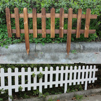 Wholesale Garden Fencing Trellis Antiseptic Wooden Fence Solid wood Guardrail Courtyard greening Wedding Garden Flower beds decorations x35x20cm DHL