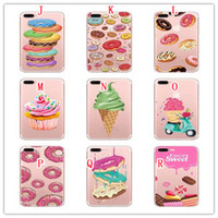 Panda Doughnuts Ice Cream Soft TPU Case Pour Iphone 7 PLUS I7 7PLUS 6 6S SE 5 5S Lettre de bande dessinée Bear Silicone téléphone Shop Sweet Skin Cover 20PCS