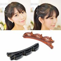 Doppio Strato Braccialetti Clip di capelli Styling Tools Clip Braider Holder DIY French Braid Clip Maker Ex Accessori per i capelli