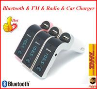 carregador móvel de ouro sem fio venda por atacado-G7 Carregador de Telefone Bluetooth MP3 Player de Rádio Transmissor FM Modulador 2.1A Carregador de Carro Kit Sem Fio Suporte Micro TF Cartões ATP112