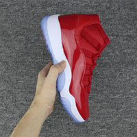 (Com caixa) 2017 ar retro 11 Ginásio Red Chicago homens Mulheres Basketball Shoes retro 11s Ginásio Red branco Athletic sports shoes Sneakers 36-47