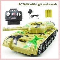Wholesale Miniature Sound Cars - 2017 1:22 Remote Control Model 4CH RC Car Sound & Light Electric car Tank Gift Miniature Scale Automobiles Machine Kids Boy Toy