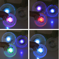 Wholesale Night Flying Toys - Colorful Led Light up Pet Dog Flying Disc Tooth Resistant Night Flashing Dogs Training Toy Outdoor Play Frisbee Durable