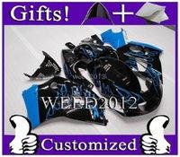 Wholesale Suzuki Gsx F - Injection mold Aftermarket blue flames motorcycle cowl for Suzuki GSX-R600750 1996-2000 96 00 GSXR750 1996 1997 1998 1999 2000 ABS Plastic F