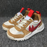 Running Shoes spring kids crafts - Newest Style Baby Kids Athletic Shoes Tom Sachs x Craft Mars Yard TS NASA Joint Limited Natural Maple Children Running Shoes