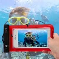 Wholesale Mobile Phone Pouches Cartoon - Waterproof Mobile Phone Bag Case Pouch Cellphone Underwater Pouches Anti-snow Anti-sand Dry Bags With Lanyard For Samsung iphone Vivo Oppo