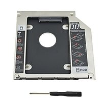 "Wholesale Dvd Superdrive - Wholesale- Original 2nd HDD Caddy 9.5mm SATA 3.0 SSD DVD HDD Case Enclosure Optibay for Macbook Air Pro 13"" 15"" 17"" SuperDrive Optical Bay"
