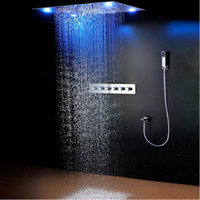 rain shower luxury 31 large rain shower set waterfall led recessed ceiling remote control 600
