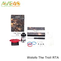 Wholesale Wholesale Cotton Filling - Wotofo The Troll RTA Atomizer 24mm with 5ml Top Filling Rebuildable RTA Tank with the Huge Cotton Hole 100% Original
