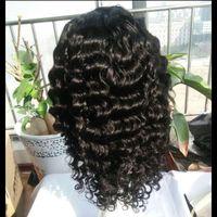Wholesale Virgin Burmese Hair Deep Wave - glueless lace front wigs with adjustment straps brazilian virgin human hair full lace wigs for black women deep wave virgin hair