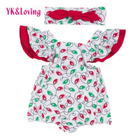 Wholesale Toddler Winter Overalls - Baby Sexy Bodysuit Cotton Romper Sleeveless Toddler Jumpsuit Summer Clothes One Piece Floral Christmas Party Overalls Sunsuit for 6-24 month