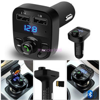 Wholesale motorcycle mp3 player resale online - Wireless Bluetooth FM audio music Transmitter LCD MP3 Player USB Charger for iphone motorcycle bluetooth kit with USB TF playback