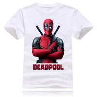 Wholesale Wholesale Hipster Clothes - Wholesale- Newest 2016 men's Fashion Short sleeve cute Deadpool printed t-shirt brand clothing funny tee shirts Hipster O-neck cool tops