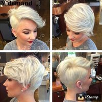 Wholesale Low Price Short Wigs - Fashion Newest Cheap!!! Low Price Fashionable BOB Style White Short Wig For Black Women In Stock High Temperature Fiber