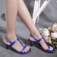 Wholesale Low Heel Formal Shoes Women - High Quality Fashion Women Ladies Low Heel Shoes Summer Sandals Joker Elegant Office Lady Party Work Formal Ankle Strap Pumps