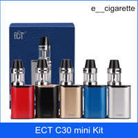 Wholesale Mini Cigarette Starter Kit - ECT C30 mini kit e cigarette box mod vape mod met atomizer 2.0 ml vaporizer 1200mah electronic cigarette starter kits
