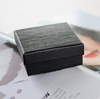 specialty rings - Simple Seven cm Classic Black Jewelry Ring Box Specialty Stripe Paper Bracelet Carrying box Festival Pendant Display with Sponge