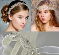 Wholesale Tiaras Hair Jewelery - 2017 Vintage Bridal Crown Tiara Wedding Jewelery Bohemia Hair Accessories Elegant Headpieces Frontlet Hair Band headbands for Bridal