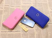 Wholesale Hot Lady Deep - 2017 new fashion hot sale classic tb women's handbag wallet lady leather card holders long paragraph zipper wallet