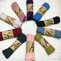 Wholesale Soft Winter Mufflers - Kids Solid Infinity Scarf Baby Winter Shawl Fashion Wrap Plain Pashmina Vintage Scarves Candy Color Cappa Soft Muffler Neckerchief D536