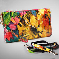 Wholesale Painting Classes - Wholesale-Luxury 100% Real Leather Messenger Bags For Women Shiny Patent Cowhide High Class Oil Painting Cluthes Purses LG1572