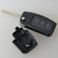 Wholesale ford keyless fob - Keyless entry remote key Fob case for Ford Focus 3 button flip folding remote key blank shell 15pcs lot