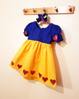 Wholesale Wholesale Beautiful Short Dresses - Children Performing Clothes Girls Lovely Beautiful Snow White Short Sleeve Dance Dress+headbands Children Fairytale Princess clothes A0640