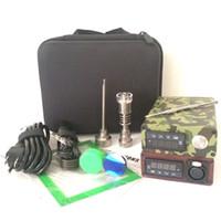 Wholesale Electric Herb - Portable E dab nail kit electric dab nail rig E D electronic dabber box PID TC control Titanium Quartz Nail wax dry herb