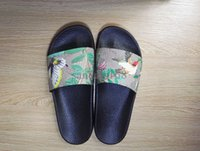 Wholesale Men New Style Sandals - New Style Flower Animal Leather Slider Sandals Fashionable Men and Women Print Slippers brand slippers factory outlet