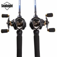 Wholesale Carbon Lure Fishing Rod - Wholesale- SeaKnight Fishing Rod Combo NEC 2.1M Lure Rod Casting Rod M&ML + LYCAN 7.0:1 Carbon Fiber Drag System Baitcasting Fishing Reel