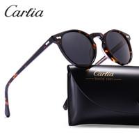 uv koruması güneş gözlüğü toptan satış-Polarize güneş gözlüğü kadın güneş gözlüğü carfia 5288 oval tasarımcı güneş gözlüğü erkekler için UV 400 koruma acatate re ...