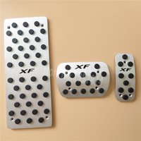 For Jaguar XF Fuel Brake Foot Rest AT pedals Plate Non slip Accelerator brake pedal Pads,Car Styling 11