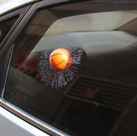 Wholesale Breaking Head - Car Stickers crazy ball broken design Decal cover anti scratch UV water for body Light brow door bumper rearview mirror window etc